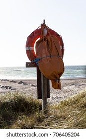 Lifesaver at the beach in Denmark