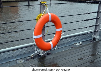lifesaver on side of battleship