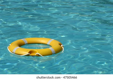lifesaver on a swimming pool