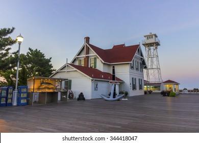 Life-saving station museum on Ocean City, Maryland