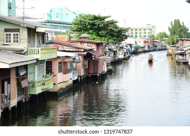 Lifestyle community near the canal out of city, Easy communication and transportation og to big city, Bangkok Thailand.