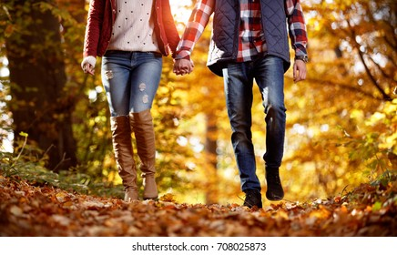 Lifestyle, couple walking in the park