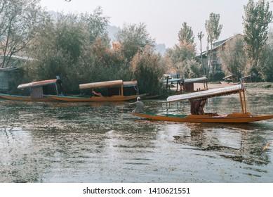 Lifestyle Kashmiri at Dal Lake, Kashmir, India. Image may a bit noise due to low light