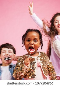 lifestyle people concept: diverse nation children playing togeth