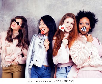 Lifestyle and people concept: young pretty diversity nations wom
