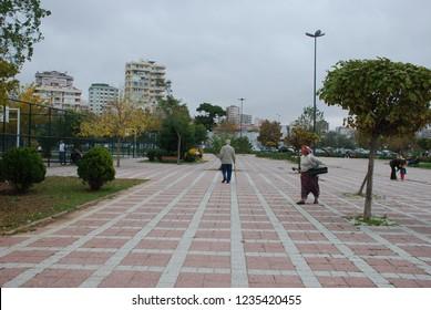 Lifestyle people near the  Caddebostan Sahil in istanbul Turkey