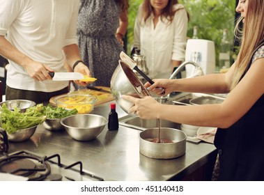 Lifestyle portrait young male person in the real kitchen