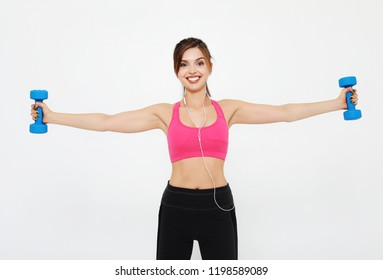 lifestyle, sport  and people concept: Young girl athlete, fitnes