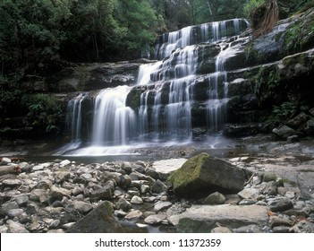 Liffey Falls is collectively a series of four distinct cascades and resides in the cool temperate rainforests of the Great Western Tiers near Deloraine between Devonport and Launceston in Tasmania