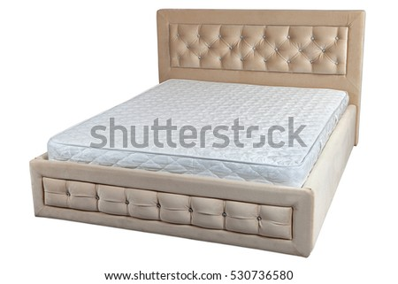 Lift Double Bed Storage Space Orthopedic Stock Photo (Edit Now ...
