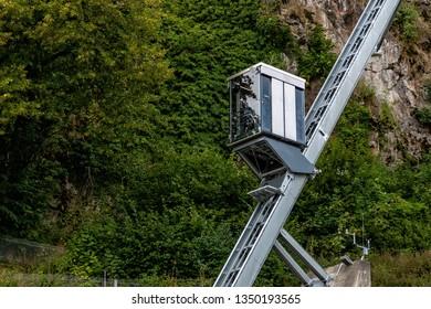 Lift to Hochosterwitz Castle on Carinthia in Austria