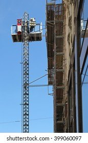 Lift for Material Handling at Construction Site