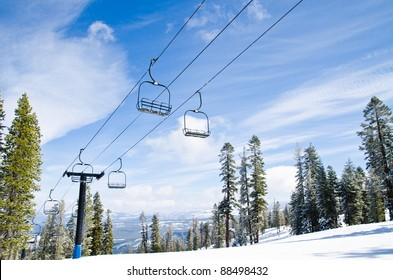 Lift to the top of the mountain at ski resort
