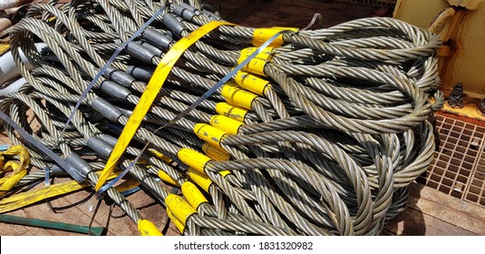 Lifting equipment. wire slings ready for Lifting operation
