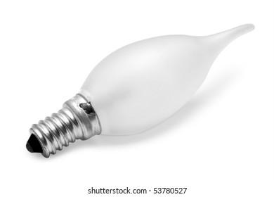 ligdht bulb isolated on white
