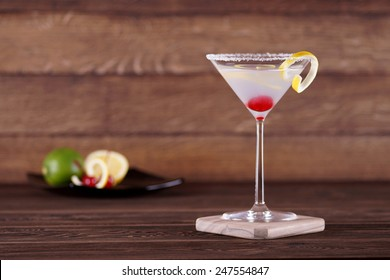 Light alcoholic cocktail. Bright cocktail.