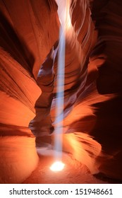 Light beam in Upper Antelope Canyon, Arizona