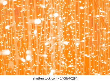 Light blub in orange background
