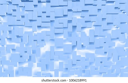 light blue abstract cgi 3d illustration of cubes