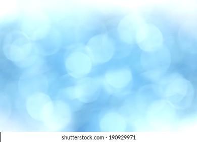 Light blue background beautiful bokeh