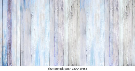 light blue background of old wood plank