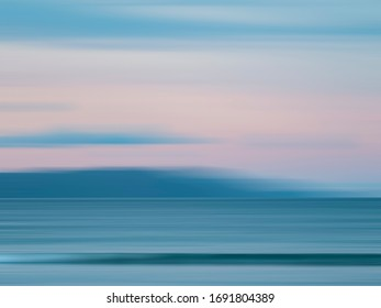 Light blue evening on a beach. New Zealand seashore