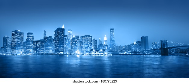 Light Blue Panaroma of New York City