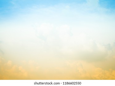 Light blue sky background with cloud, bright spring and summer.