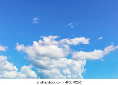 Light blue sky and Bright cloud