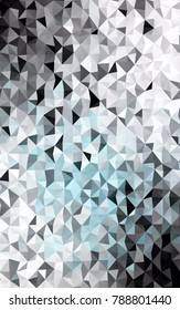Light BLUE vertical abstract polygonal background. Shining colored illustration in a brand-new style. The polygonal design can be used for your web site.