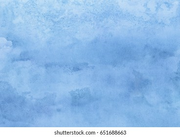 Light blue watercolor background on paper
