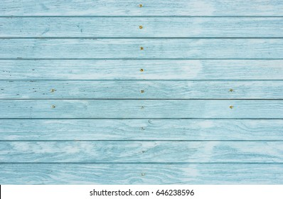 Light blue wood plank surface texture, wooden board background with copy space.