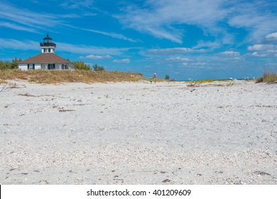 The Light at Boca Grande Beach on Gasparilla Island, in southwest Florida.  A popular beach for sun, surf and sand and known for its sugar sand beaches, shelling, blue water and world class fishing.