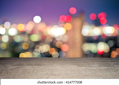 light bokeh above a wooden floor for your product