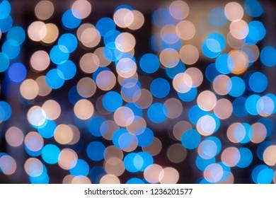 light bokeh background from led
