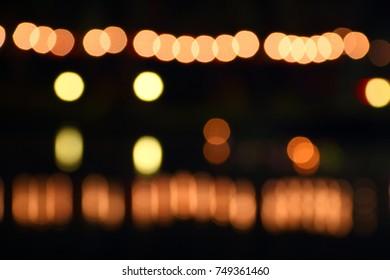 Light Bokeh at night time