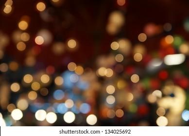 Light bokeh photography