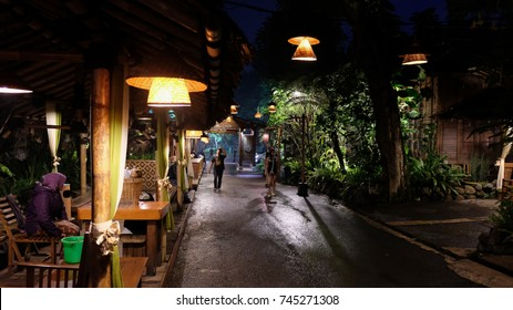 Light Boleh At Kampung Daun, Lembang, Bandung, Indonesia.