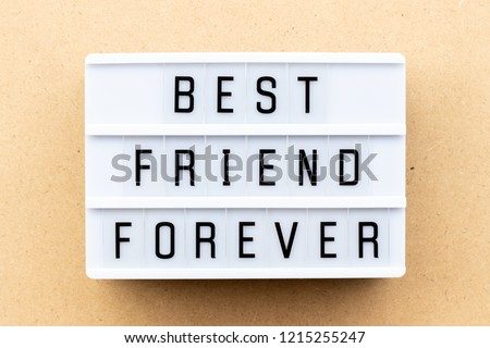 Light Box Word Best Friend Forever Stock Photo Edit Now 1215255247