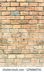 Light brick wall.  Distressed wall with broken bricks texture.