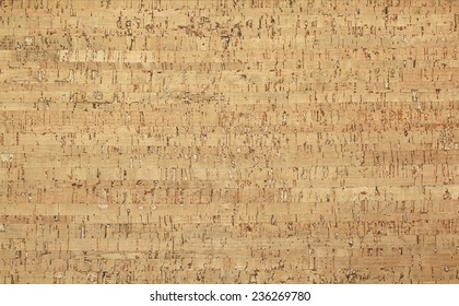Light brown cork-wood panel - background