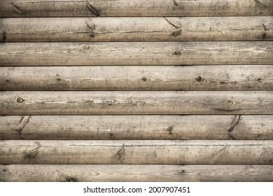 light brown horizontal textured wooden grunge background with round planks