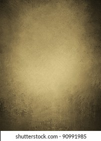 light brown or sepia tone background with elegant old vintage grunge texture and faded worn black vignette shading on frame of border and solid blank copy space for ad or brochure text or title