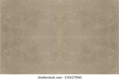 Light brown shagreen stingray fish skin texture