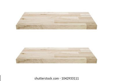 light brown wood block isolated on white background with clipping path