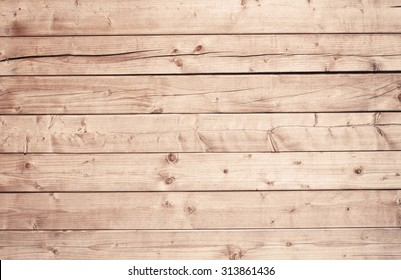 Light brown wooden texture with horizontal planks, table, desk or wall surface