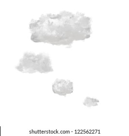 light bubble clouds isolated on white background