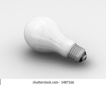 Light bulb - 3D render