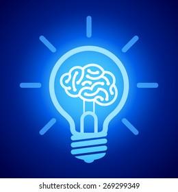 Light bulb with brain