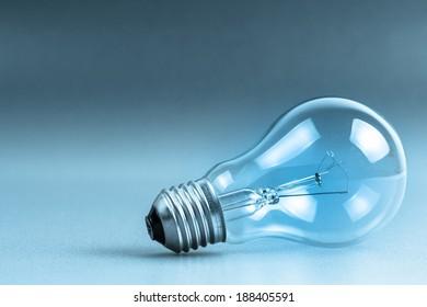 Light bulb in cold tone color